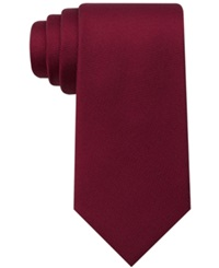 Tommy Hilfiger Core Oxford Solid Tie Burgundy