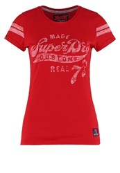 Superdry Print Tshirt Rich Scarlet Red