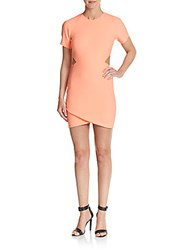 Elizabeth And James Skylyn Tulip Skirt Dress Peach