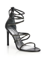 Stuart Weitzman Xchain Leather Evening Sandals