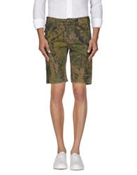 Blauer Trousers Bermuda Shorts Men Military Green