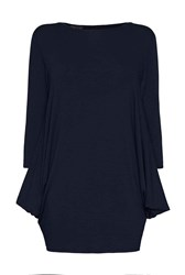 James Lakeland Jersey Top With Buttons Black