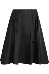 Prada Beaded Duchesse Satin Skirt Black
