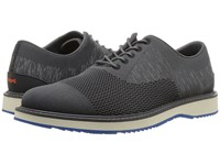 Swims Barry Oxford Knit Dark Gray Blitz Blue Shoes