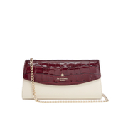 Aspinal Of London Women's Eaton Clutch Bag Bordeux Ivory Peacock