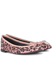 Repetto Cendrillon Suede Ballet Flats Pink