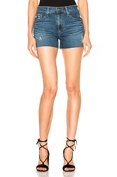 Ag Adriano Goldschmied Sadie Shorts In Blue