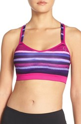 Women's Moving Comfort 'Uprise' Cross Back Sports Bra Bloom Scape