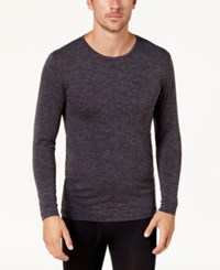 32 Degrees Men's Base Layer Crew Neck Shirt Charcoal