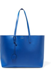 Saint Laurent Shopping Large Textured Leather Tote Bright Blue