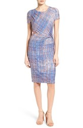 Nic Zoe Women's Checked Out Side Twist Dress
