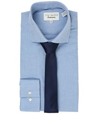 Ted Baker Millin Endurance Slick Rick Shirt Blue Men's Long Sleeve Button Up