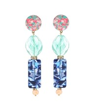 Lele Sadoughi Stacked Stone Earrings Blue