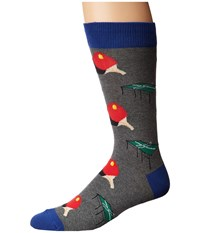 Socksmith Ping Pong Heather Gray Crew Cut Socks Shoes