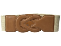Lauren Ralph Lauren Stretch 2 3 4 Jute Belt Natural Cuoio Women's Belts Brown