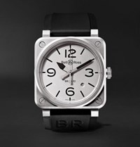 Bell And Ross Br 03 92 Horoblack Automatic 42Mm Steel Rubber Watch White