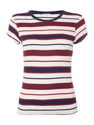 Lee Stripe Tee In State Blue Multi Coloured Multi Coloured