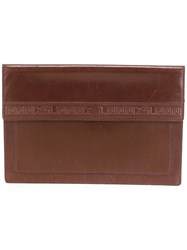 Yves Saint Laurent Vintage Envelope Clutch Brown