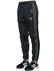 Adidas By Alexander Wang Aw Wrinkled Tech Tear Away Track Pants Black White