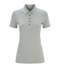 Burberry Lace Trim Polo Shirt Female Grey