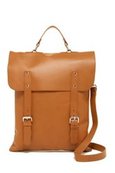 Enter Leather Convertible Messenger Tote Brown