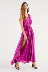 Urban Outfitters Uo Avery One Shoulder Maxi Dress Pink
