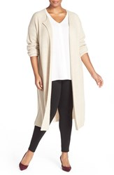 Halogenr Plus Size Women's Halogen Long Ribbed Cashmere Cardigan