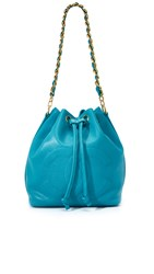 Wgaca Chanel Bucket Bag Previously Owned Blue