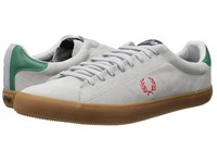 Fred Perry Howells Unlined Suede Dolphin Vintage Red Men's Lace Up Casual Shoes Gray