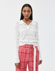 Rachel Comey Member Knit Polo In White Off White