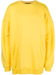 Y Project Deconstructed Hoodie Yellow And Orange