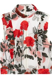 Ganni Monroe Embroidered Tulle Top Dk36