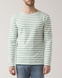Armor Lux Pale Green White 2297 Heritage Sailor Top