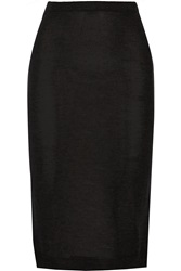 Isabel Marant Truman Cashmere And Silk Blend Midi Skirt Gray