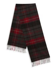 Hickey Freeman Plaid Patterned Cashmere Scarf Multi