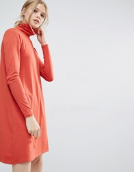 Vila Roll Neck Dress Red