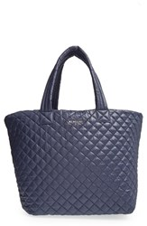 M Z Wallace Mz Wallace 'Large Metro' Quilted Oxford Nylon Tote Blue Navy
