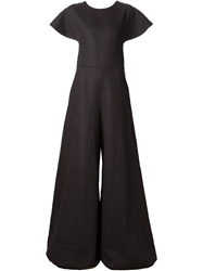 Rosie Assoulin Flared Jumpsuit Black
