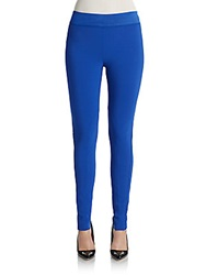 Stella Mccartney Elastic Waist Denim Leggings Cobalt