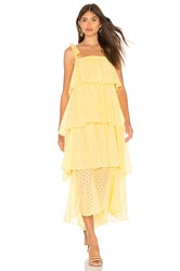 Mds Stripes Tiered Cami Dress Yellow