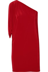 T Bags Stretch Satin Jersey Mini Dress Red