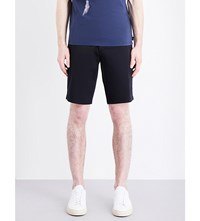 Armani Jeans Tailored Stretch Cotton Chino Shorts Navy