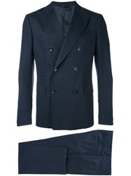 Tonello Double Breasted Suit Blue