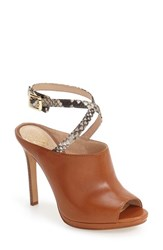 Vince Camuto Women's 'Resina 2' Peep Toe Mule Gingerbread Napa Leather