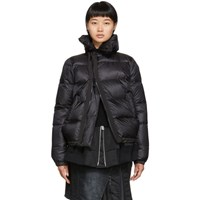 Sacai Black Down Puffer Jacket