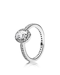 Pandora Design Ring Sterling Silver And Cubic Zirconia Vintage Elegance