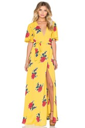 Privacy Please Plaza Kimono Dress Yellow