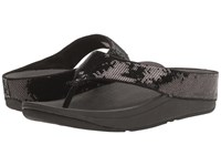 Fitflop Ringer Sequin Toe Post Black Women's Shoes