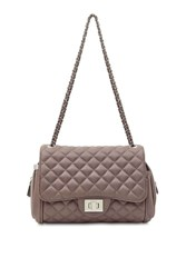 Marc B Quilted Nude Cross Body Bag By Nude