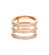 Repossi Berbere 18Kt Rose Gold Ring With Diamonds